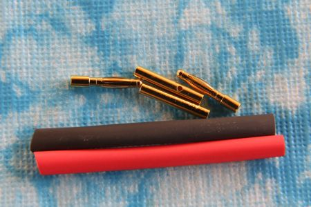 "2 mm Goldkontaktstecker ""Lamellenstecker"", 2 Paar"
